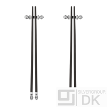 Georg Jensen. Two sets of Chopsticks with Rest - Acorn/ Konge - New