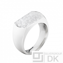 Georg Jensen Hammered Silver Ring  #593F - Smithy