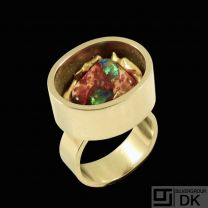 Thor Selzer - Copenhagen.14k Gold Ring with Opal. 1960s