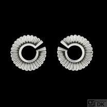 Georg Jensen. Art deco Sterling Silver Earrings #92 - Jørgen Jensen - 1915-32 Hallmarks.