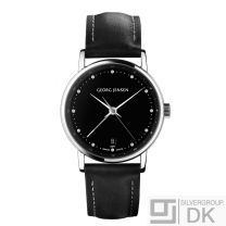 Georg Jensen Ladies' Dual Time Watch # 429 - Black Dial - KOPPEL