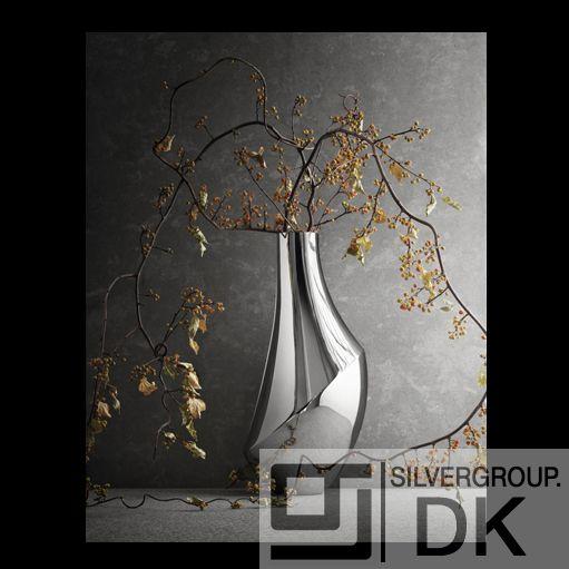 Georg Jensen Medium Flora Polished Stainless Steel Vase 3586104