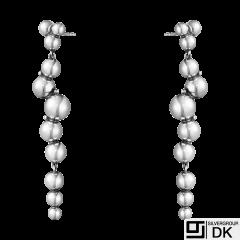 Georg Jensen. Sterling Silver Earrings #551L - Moonlight Grapes