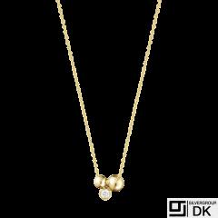 Georg Jensen. 18k Gold Pendant with Diamond 0.07ct #1551C - Moonlight Grapes
