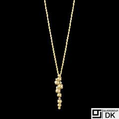Georg Jensen. 18k Gold Pendant with Diamonds 0,05ct #1551D - Moonlight Grapes