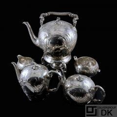 A. Michelsen - Denmark. Antique Silver Samovar -Coffee & Tea Set - 1898.