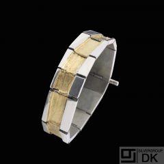 Anette Kræn Jensen - Denmark. Sterling Silver Bracelet 24k Gold.