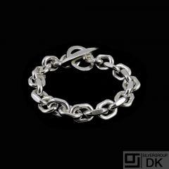 Børge Malling Jensen. Sterling Silver Anchor Chain Bracelet. 87g.