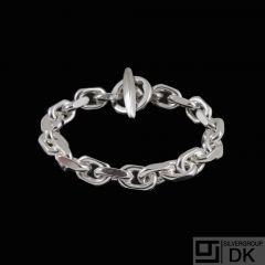 Boy Johansen. Sterling Silver Anchor Chain Bracelet. 52 g.