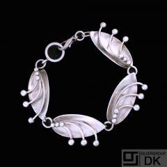 Carl Ove Frydensberg - Copenhagen. Sterling Silver Bracelet. 1960s