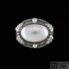 Harald Jensen. Art Nouveau Silver Brooch.
