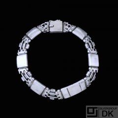 Georg Jensen. Art decoSilver Bracelet #48- Oscar Gundlach-Pedersen - 1933-44