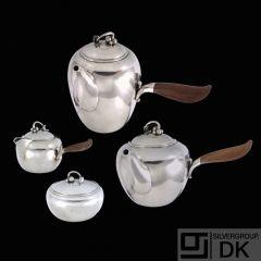 Georg Jensen. Sterling Silver Tea Set #875 - Harald Nielsen - 1933-44