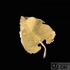 Gertrud Engel for Anton Michelsen. 18k Gold Leaf Brooch. 1950s