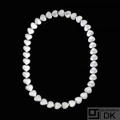 Karl Gustav Hansen for Hans Hansen. Sterling Silver Heart Necklace #236 - L. 47cm.